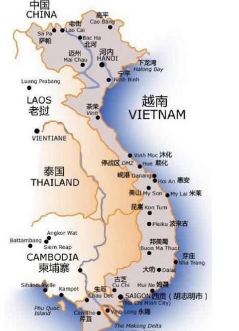 越南旅游景点城市分布概况介绍