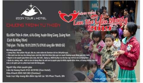 Chương trình từ thiện - Hành trình Lan Tỏa Yêu Thương 2019